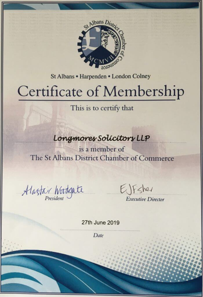 Longmores join St Albans District Chamber of Commerce