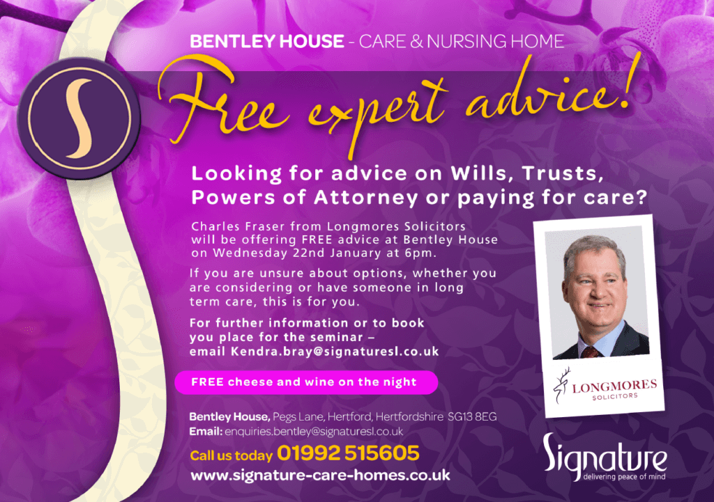 Looking for Advice on Wills, Trusts, Powers of Attorney and paying for care? (Wednesday, 22 January)