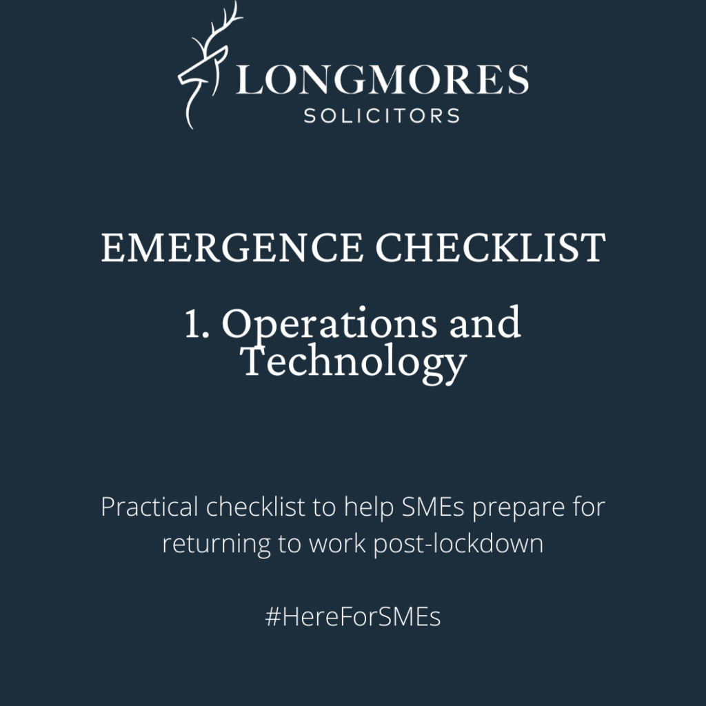 Emergence Checklist – 1. Operations and Technology