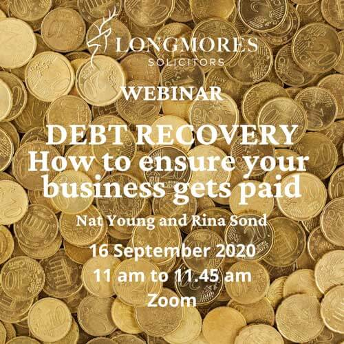 Debt Recovery Webinar: How to ensure your business gets paid (16 Sept)